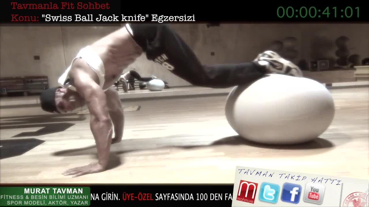 Swiss Ball Jack Knife